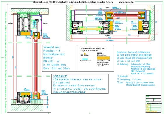 Hochschiebefenster brandschutz t30 g30 - Schiebefenster horizontal ...