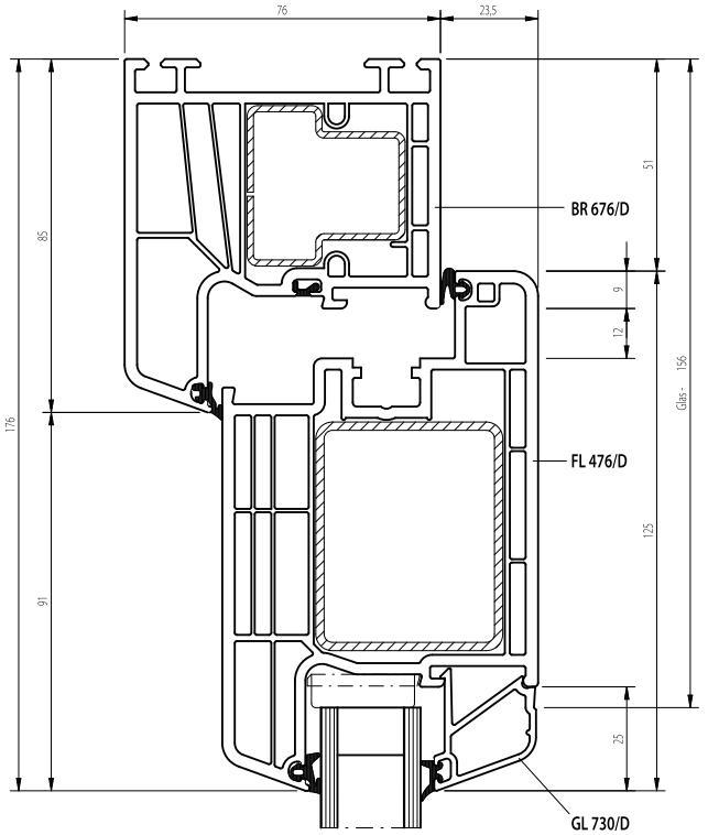 technische zeichnungen kunststoff und alu haust ren. Black Bedroom Furniture Sets. Home Design Ideas