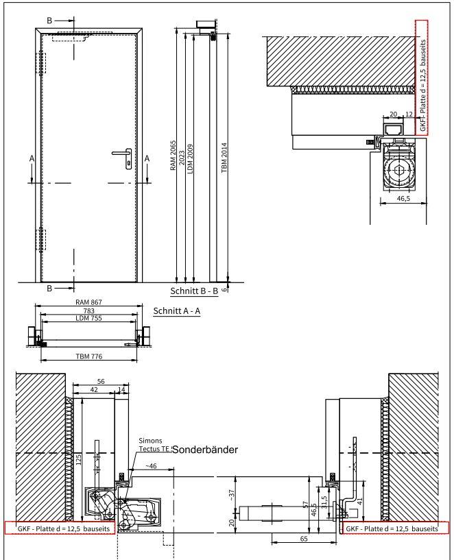 wandb ndige t30 brandschutzt ren rauchschutzt ren. Black Bedroom Furniture Sets. Home Design Ideas
