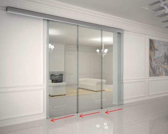 Doppelschiebetür Glas glasschiebetüren, schiebetüren aus glas typ ls1