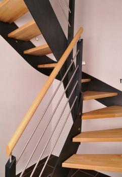 filigrano wangentreppe in flachstahl optik. Black Bedroom Furniture Sets. Home Design Ideas